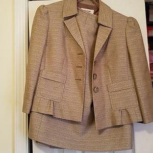 Beige Skirt Suit